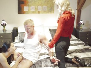 Би секс семейной пары видео